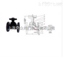 EG41W(無襯裏)、(襯膠)堰式隔膜閥