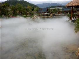 湖面人造雾