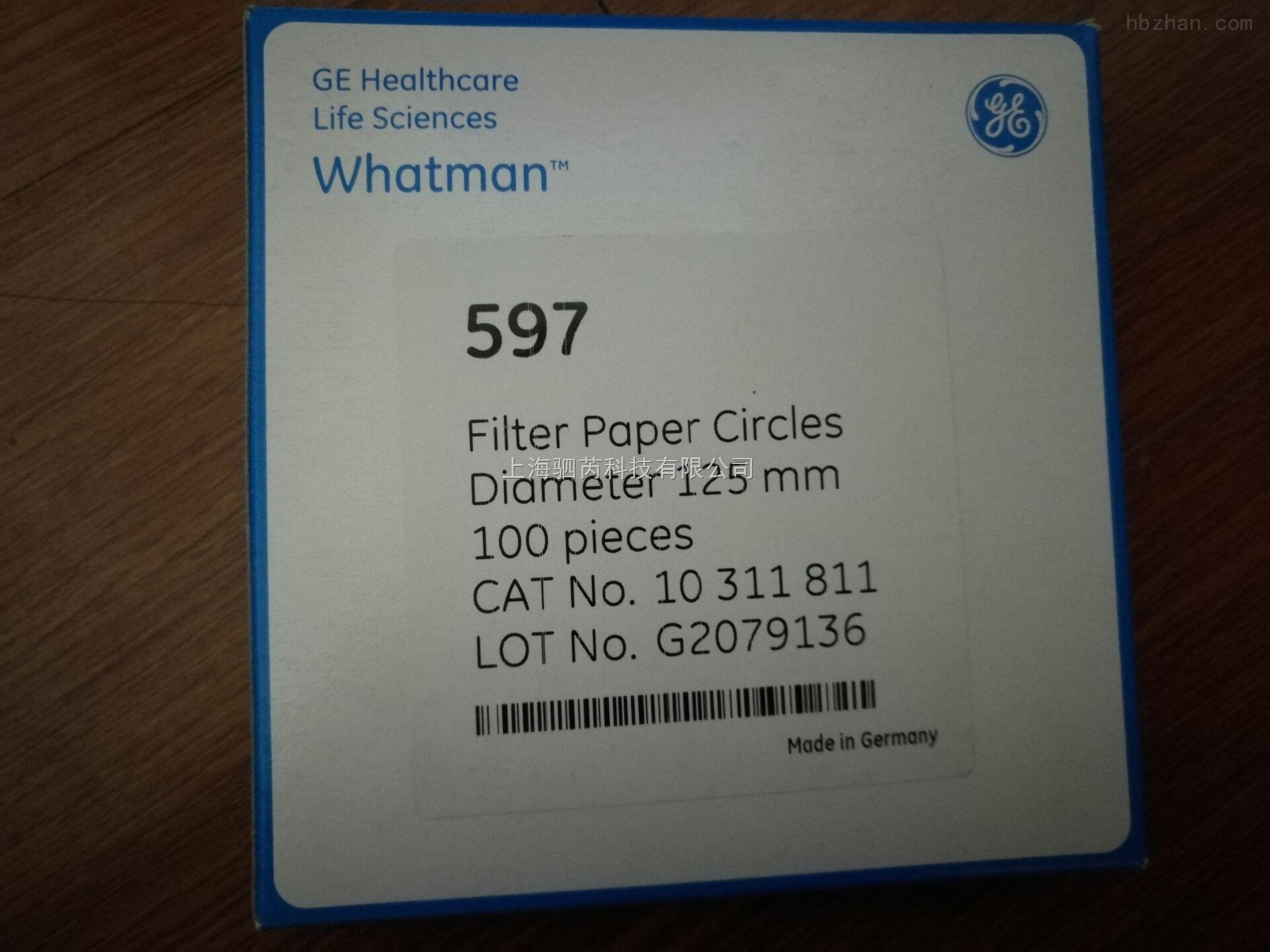 Whatman 沃特曼 4-7µm 定性滤纸 Grade 597