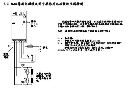 和ev1m2-24/48比例放大器的程序块电路图及参数说明