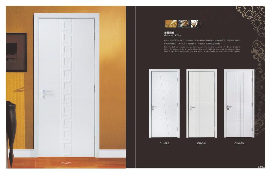 合烤漆门】河北廊坊实木复合门价 2、质感豪华,实木烤漆门表面以