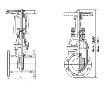 z41t-10明杆楔式闸阀结构图与材料:        明杆楔式闸阀采用的是
