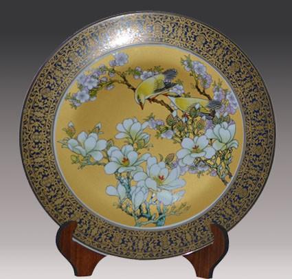 手绘陶瓷礼品盘画