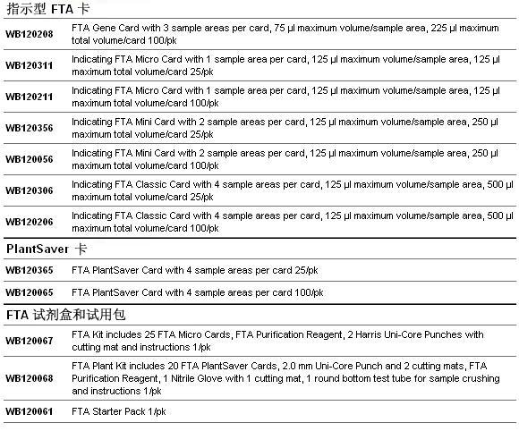 WB120205-GE Whatman普通FTA标准卡-其他滤纸