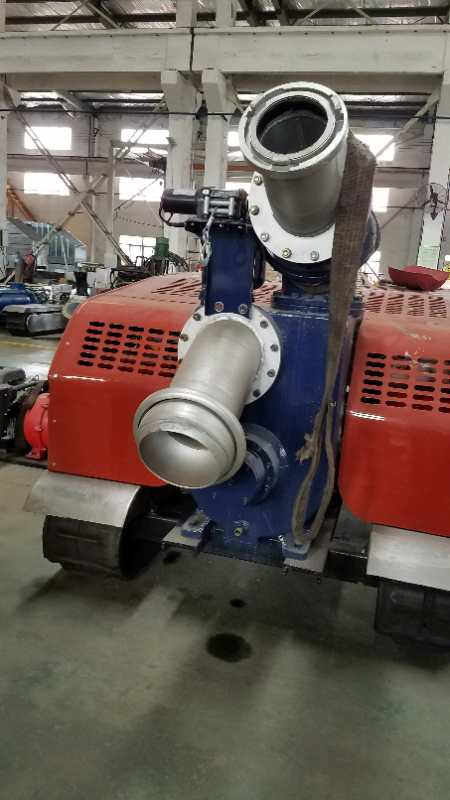 履带式自行走移动泵车