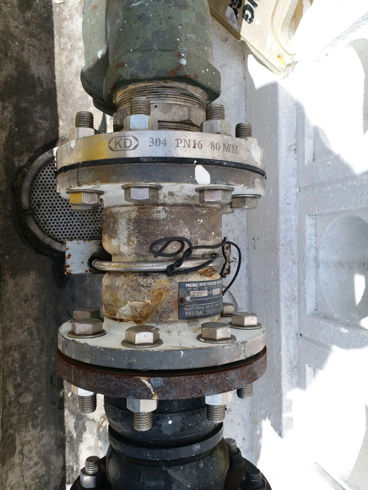 固定比例式减压阀主要技术参数图为法兰连接比例式减压阀的结构简图.